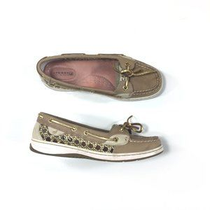 Sperry Top Sider Angelfish Can Linen Shoes Sz 6.5